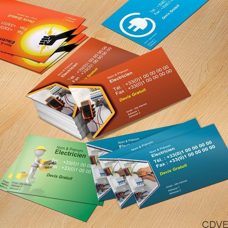 Carte De Visite Express Imprimeur En Ligne Votre Electricien Rapide Et