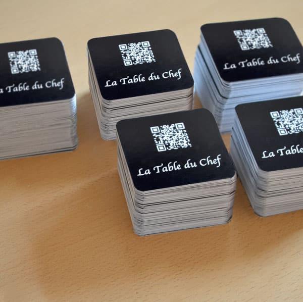 Carte De Visite Carre Aux Coins Arrondis Pas Chre
