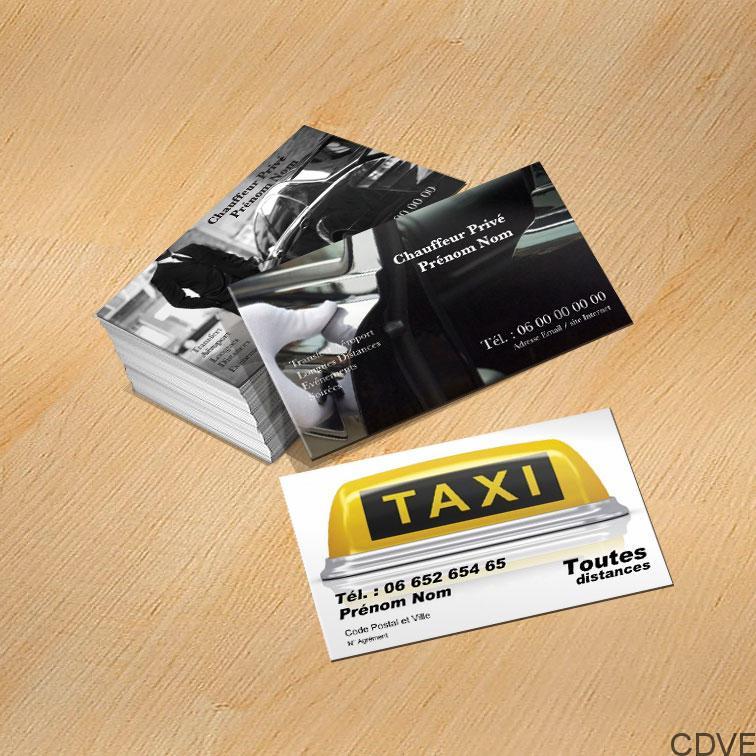 Carte De Visite Express Votre Impression En Taxi VTC