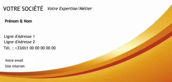 carte de visite express modele Carte de correspondance orange pas cher et en express