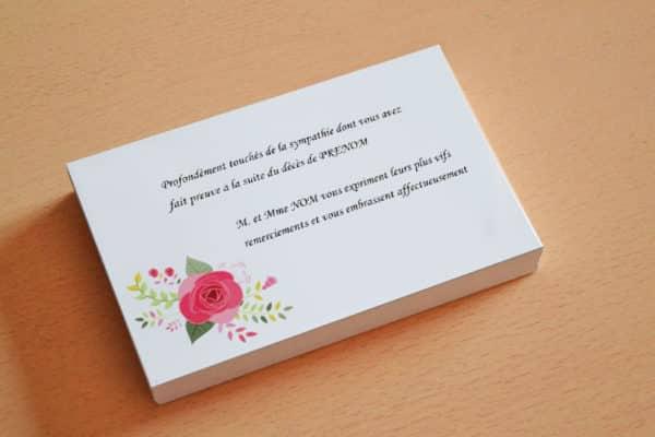 carte de visite express carte de remerciement deces pas cher avec modele gratuit