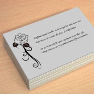 carte de visite express carte de remerciement deces avec modele a personnaliser