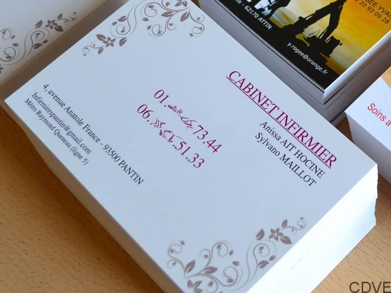Carte De Visite Express Impression Votre Grande 128x82mm Cabinet Dinfirmiere Rapide Et