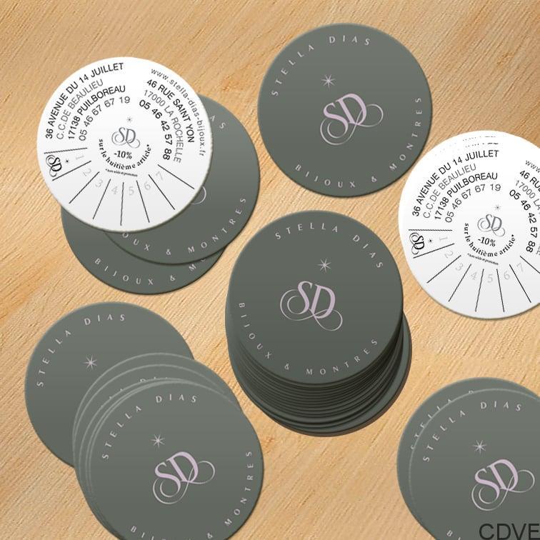 Carte De Visite Express Impression Votre Carree Aux Coins Arrondis