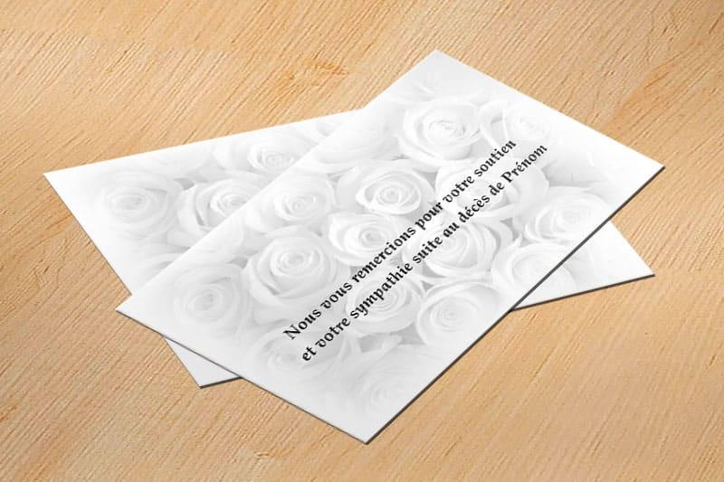 carte de remerciement décès pas cher à personnaliser, carte de remerciement décès personnalisée avec photo et texte, carte de remerciement décès pas cher