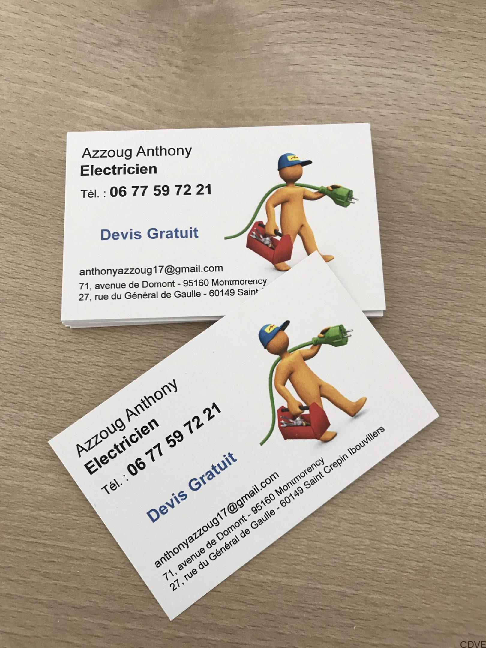 Carte De Visite Pour Electricien En Express