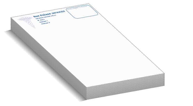carnet de facture pas cher personnalisé, idéal carnet ordonnancier infirmière pas cher
